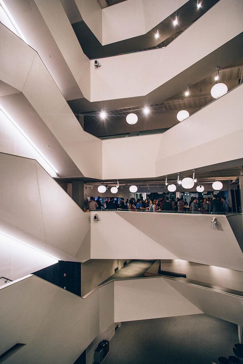Multi-floor view of EF office