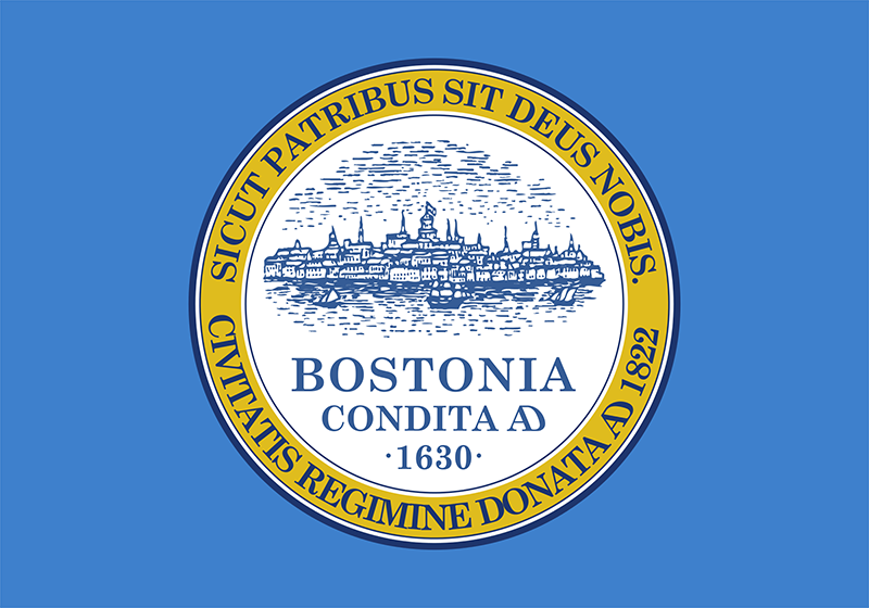 Boston's city flag with city seal