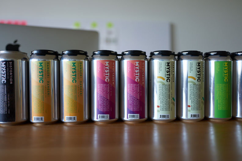 Mystic Brewery Cans