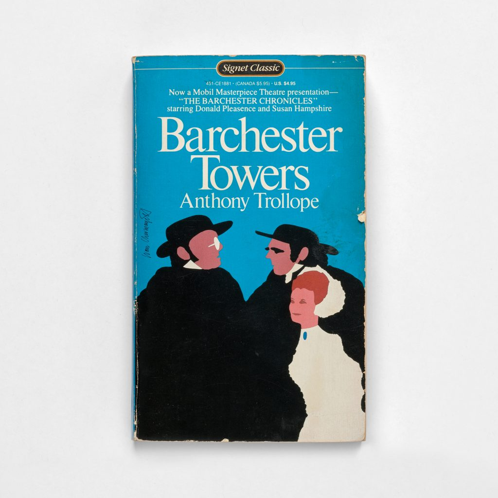 Barchester Towers took cover against a blank surface
